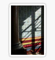 Tiles, pillars and Saturday shadows Sticker
