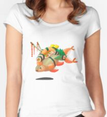 Distressed sushi  Women's Fitted Scoop T-Shirt