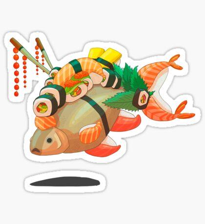 Distressed sushi  Sticker