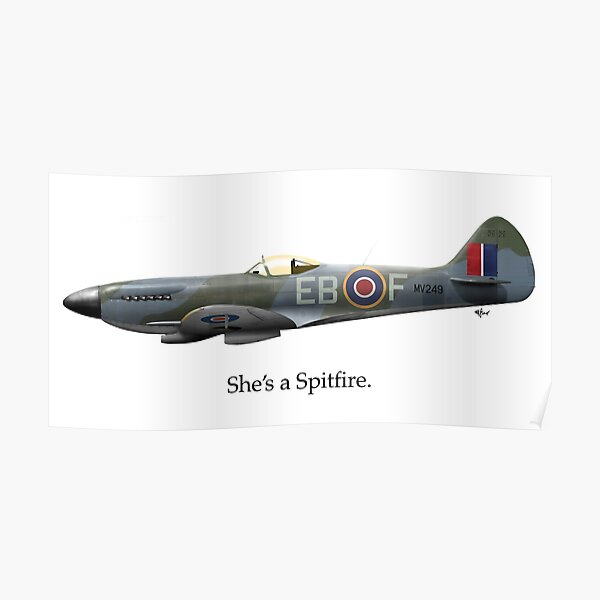 She's a Spitfire Poster