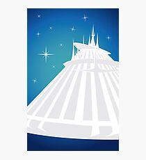 Space Mountain Illustration Photographic Print