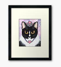 Princess Fiona Tuxedo Cat Framed Print