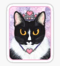 Princess Fiona Tuxedo Cat Sticker