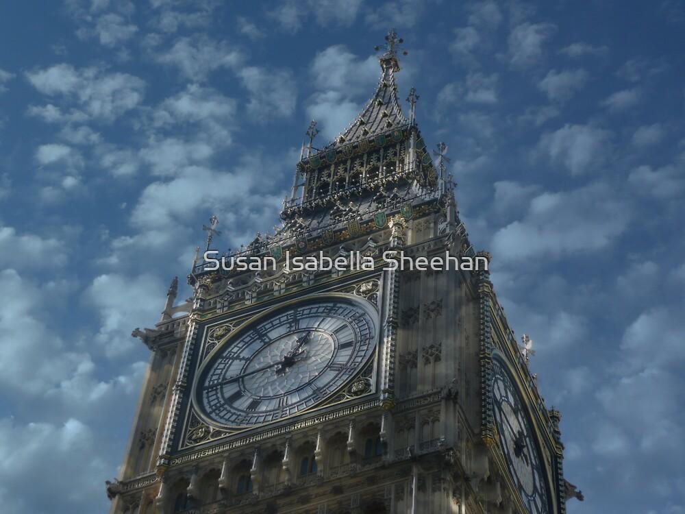 Big Ben - London by Susan Isabella  Sheehan