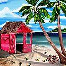 Pink CoCoNut Hut by WhiteDove Studio kj gordon