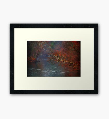 Rainy Day on the James River Framed Print