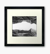 Grey scale Flipped Rural Landscape Framed Print