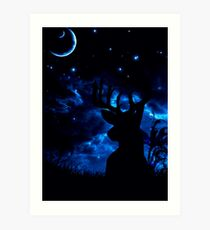 Prongs night Art Print