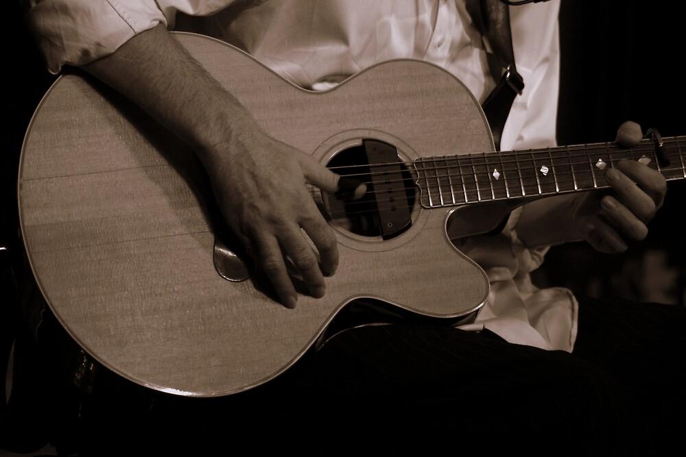 Eric Playing Guitar by Elizabeth  Lilja