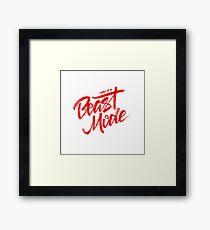 Beast Mode - Red - Big Sean Framed Print