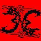 "Red & Black to ""BACK""  by WhiteDove Studio kj gordon"