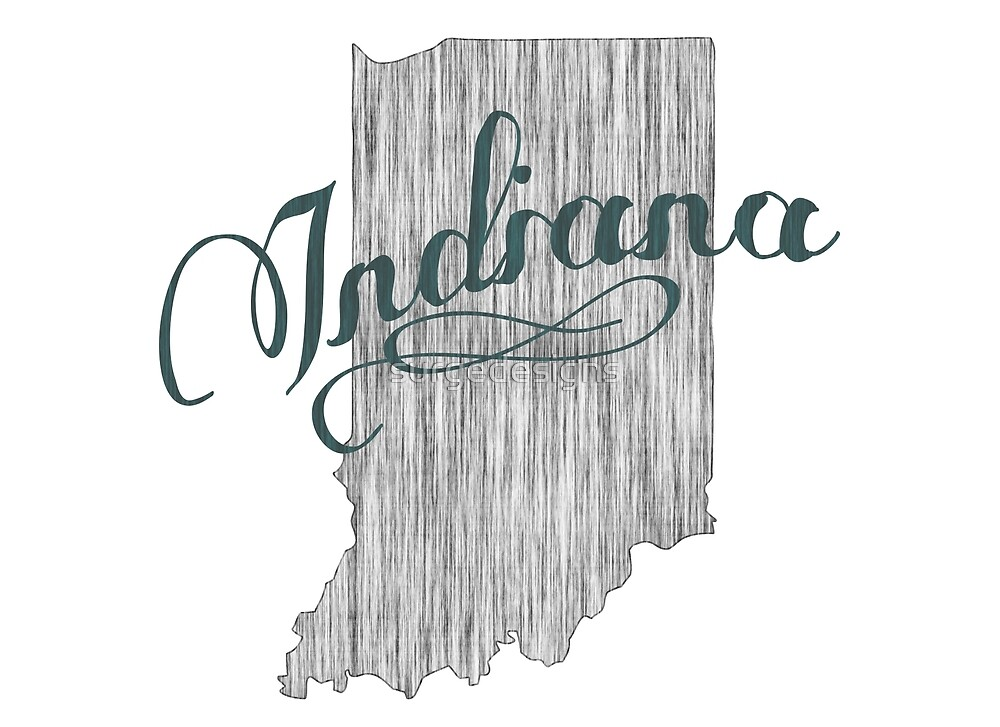Indiana State Typography by surgedesigns
