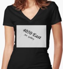 4050 East Women's Fitted V-Neck T-Shirt