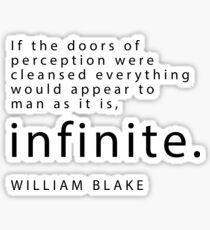 """Infinite"" - William Blake Sticker"
