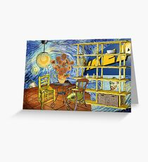 Vincent worked for IKEA....... Greeting Card