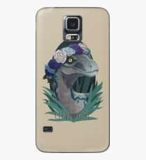 Clever Girl - Blue Case/Skin for Samsung Galaxy