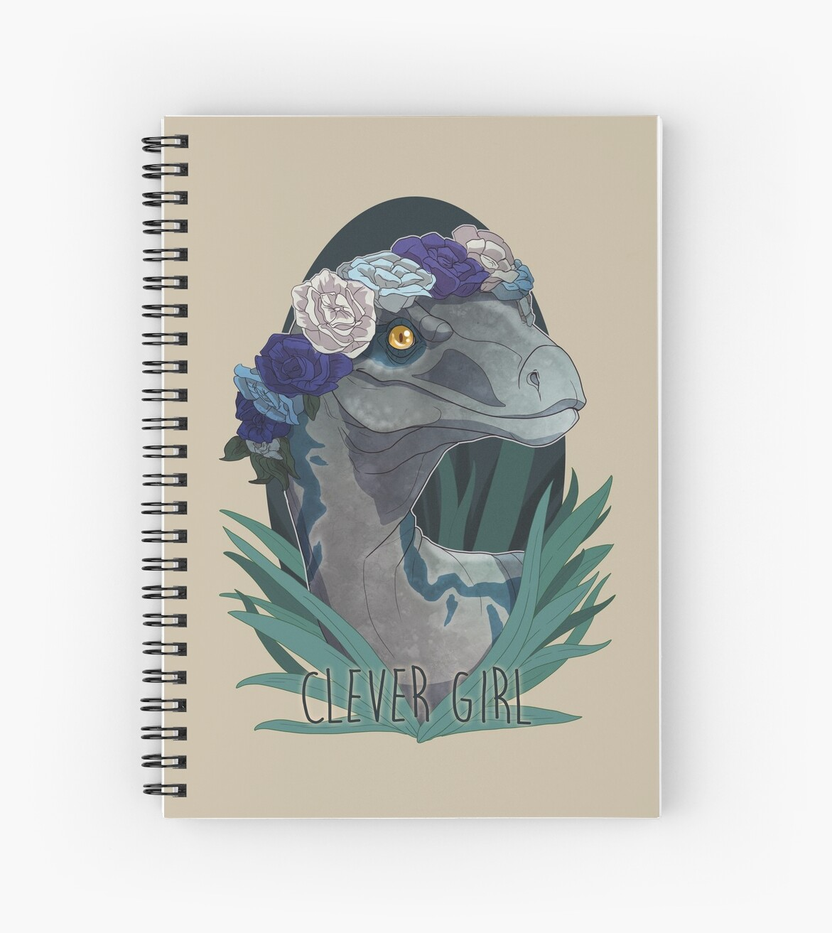"""Clever Girl Blue: """"Clever Girl - Blue"""" Spiral Notebooks By PencilCat"""
