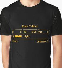 "Fallout New Vegas ""Black T-Shirt"" Stats Graphic T-Shirt"
