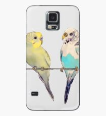 Potato and Blue Parakeets Case/Skin for Samsung Galaxy