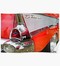 Red, chrome and blue - Belair Poster