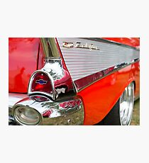 Red, chrome and blue - Belair Photographic Print