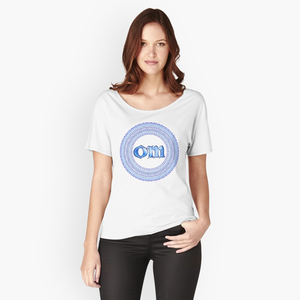Blue OM Relaxed Fit T-Shirt