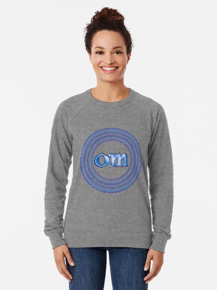 Alternate view of Blue OM Lightweight Sweatshirt