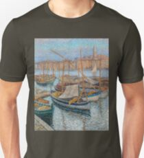 Henri Martin - The Port Of Marseilles, With Bellfry On Background, 1910 Unisex T-Shirt