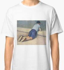 Henri Martin - The Boy Laying On The Board Of The Pool At The Garden Of Luxembourg At Paris, 1932-35 Classic T-Shirt