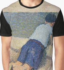 Henri Martin - The Boy Laying On The Board Of The Pool At The Garden Of Luxembourg At Paris, 1932-35 Graphic T-Shirt