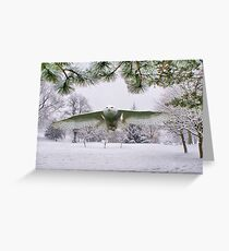 Snowy Owl In A Winter Wonderland Greeting Card