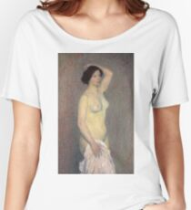 Henri Martin - Female Nude Standing With An Arm Raising Over Her Head Women's Relaxed Fit T-Shirt