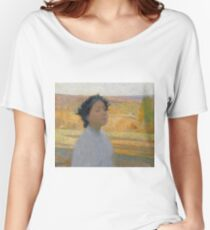 Henri Martin - Bust Of A Young Woman In A Laurel Wreath, 1890 Women's Relaxed Fit T-Shirt