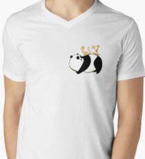 A Panda, a Cat and a little girl Robot Men's V-Neck T-Shirt