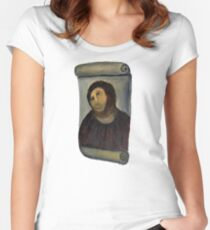 'Jesus, Why You Look Like a Shark?' Women's Fitted Scoop T-Shirt