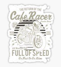 Return Of The Cafe Racer Retro Vintage Distressed Design Sticker