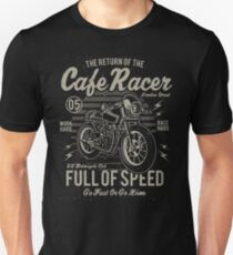 Return Of The Cafe Racer Retro Vintage Distressed Design T-Shirt