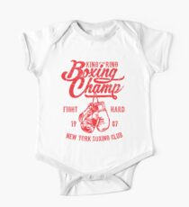 King Of The Ring Boxing Champ Retro Vintage Distressed Design Kids Clothes