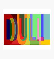 DULL 02a Photographic Print