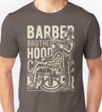 Classic Barber Brotherhood Barber Shop Retro Vintage Distressed Design Unisex T-Shirt