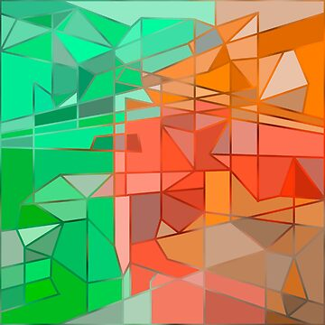 Green-Orange Geometric Abstraction by camzhu