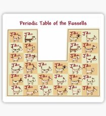 periodic table of the jack russells Sticker