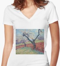 Henri Martin - An Old Plum Trees, 1940 Women's Fitted V-Neck T-Shirt