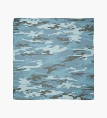Blue Military Camouflage Pattern  Scarf