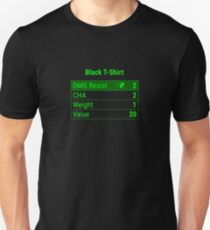 "Fallout 4 ""Black T-Shirt"" Stats T-Shirt"