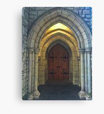 Church Entrance Canvas Print