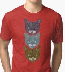 3 Kittens Tri-blend T-Shirt