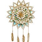 Lotus Flower Dreamcatcher by Karin Taylor