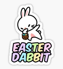Dabbit the Easter Bunny Rabbit Sticker