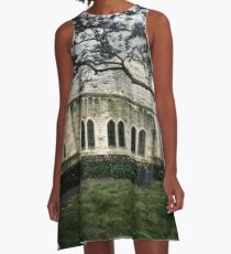 Church Building In The City A-Line Dress